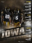 Iowa Football Poster Schedule