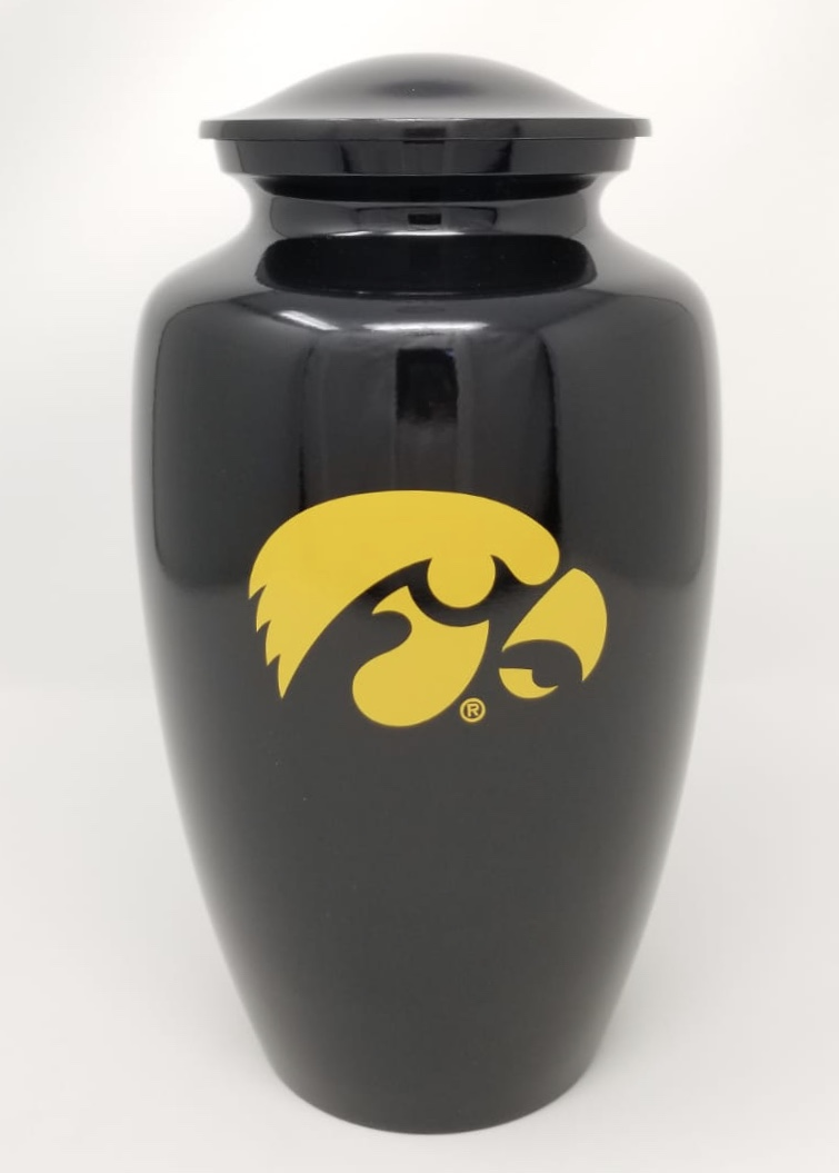 Iowa Hawkeye Cremation Urn